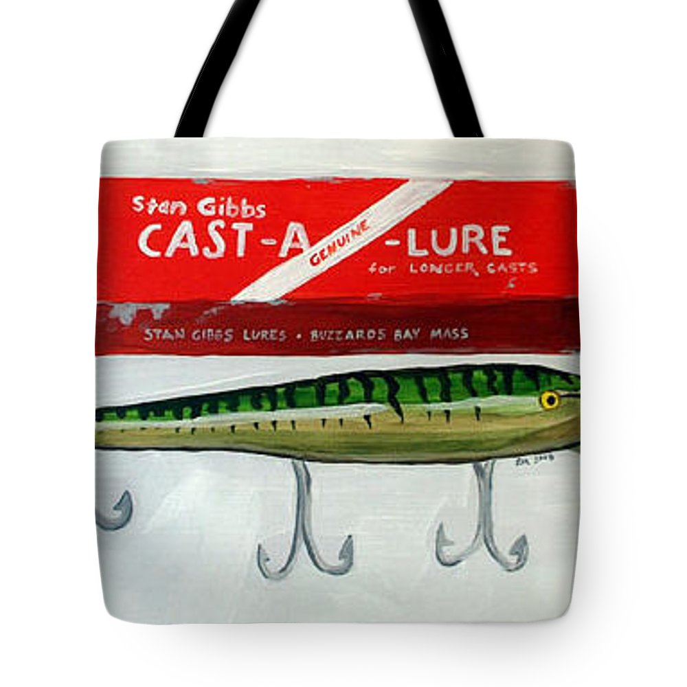Fishing Tote Bag featuring the painting Memories by Racquel Morgan