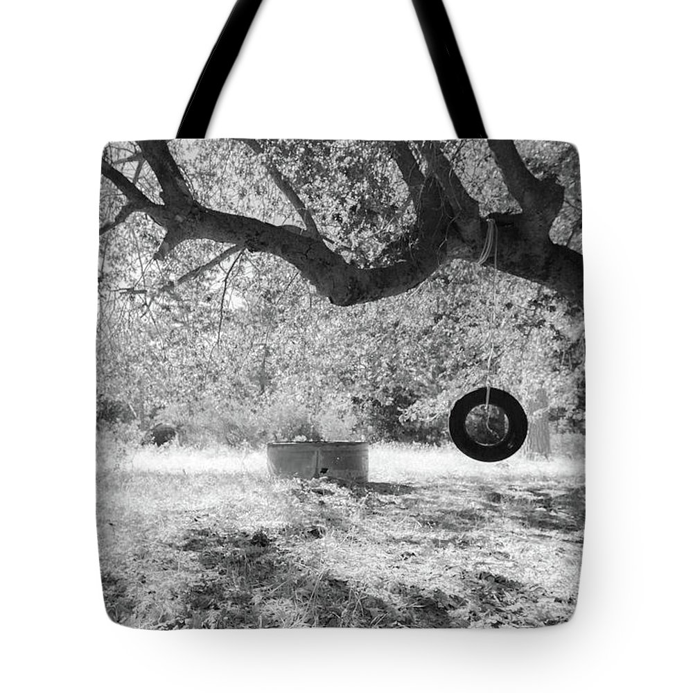 Tire Swing Tote Bag featuring the photograph Memories by Scott Campbell