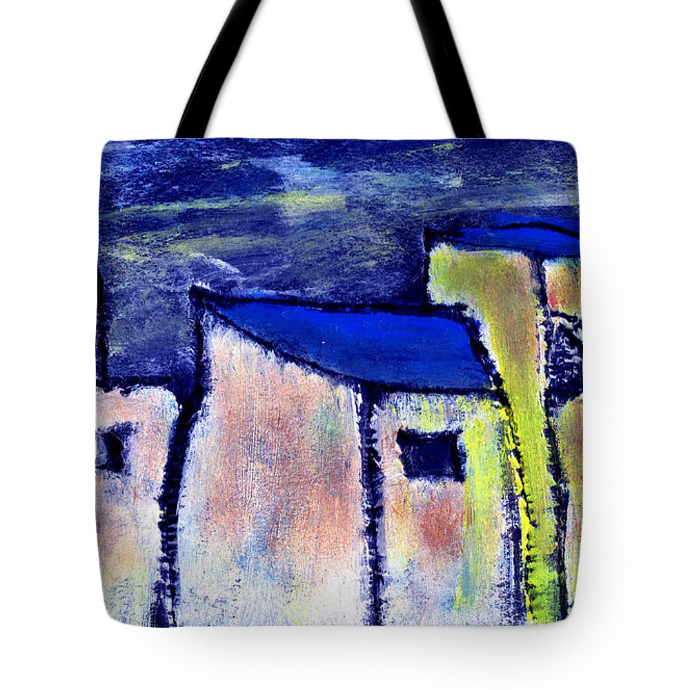 Buidings Tote Bag featuring the painting Memories by Wayne Potrafka