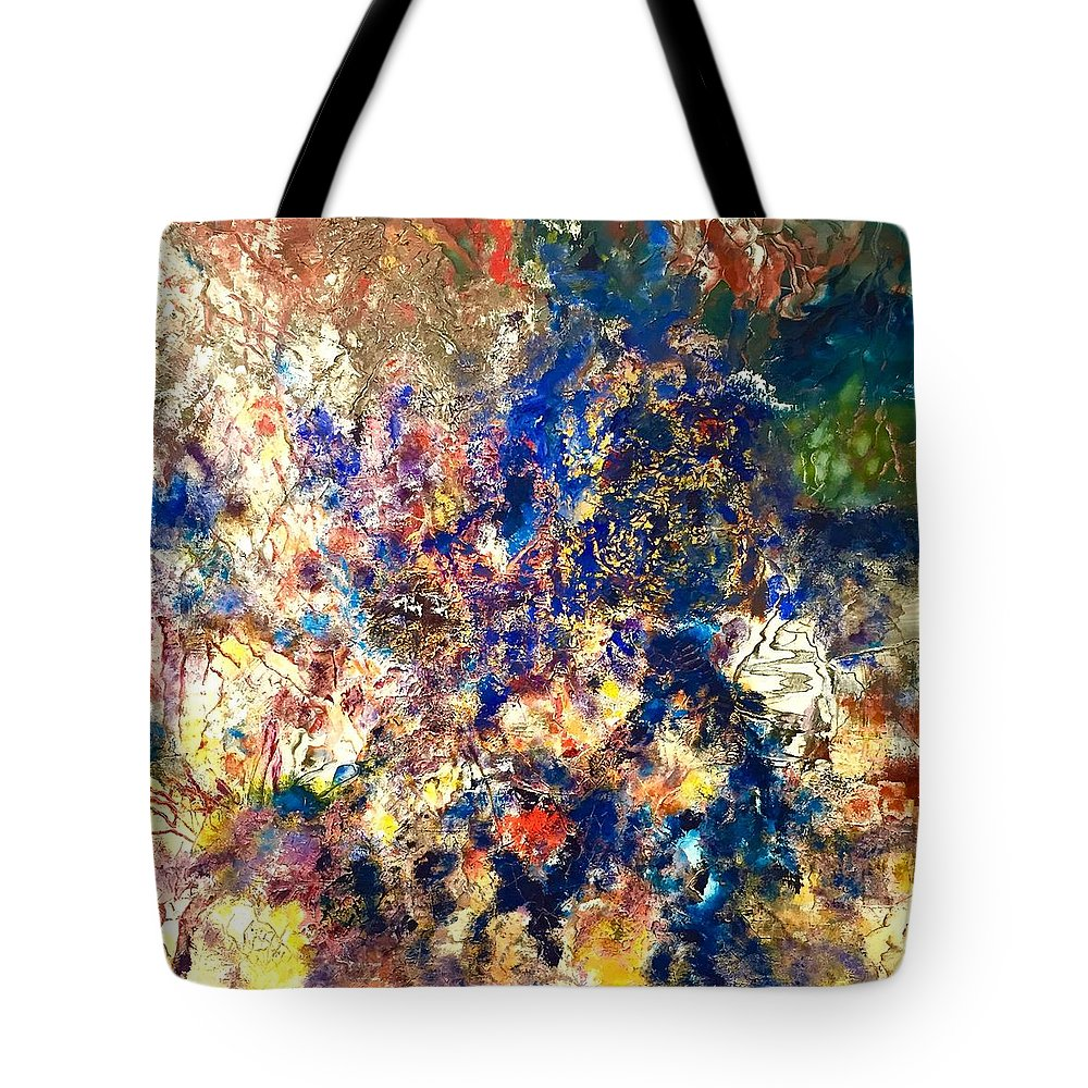 Contemporary Tote Bag featuring the painting Memory by Dennis Ellman