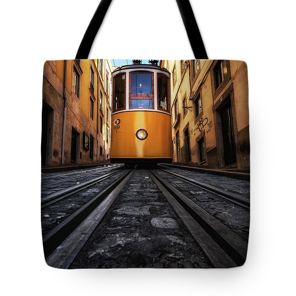 Lisbon Tote Bag featuring the photograph Memory Lane by Jorge Maia