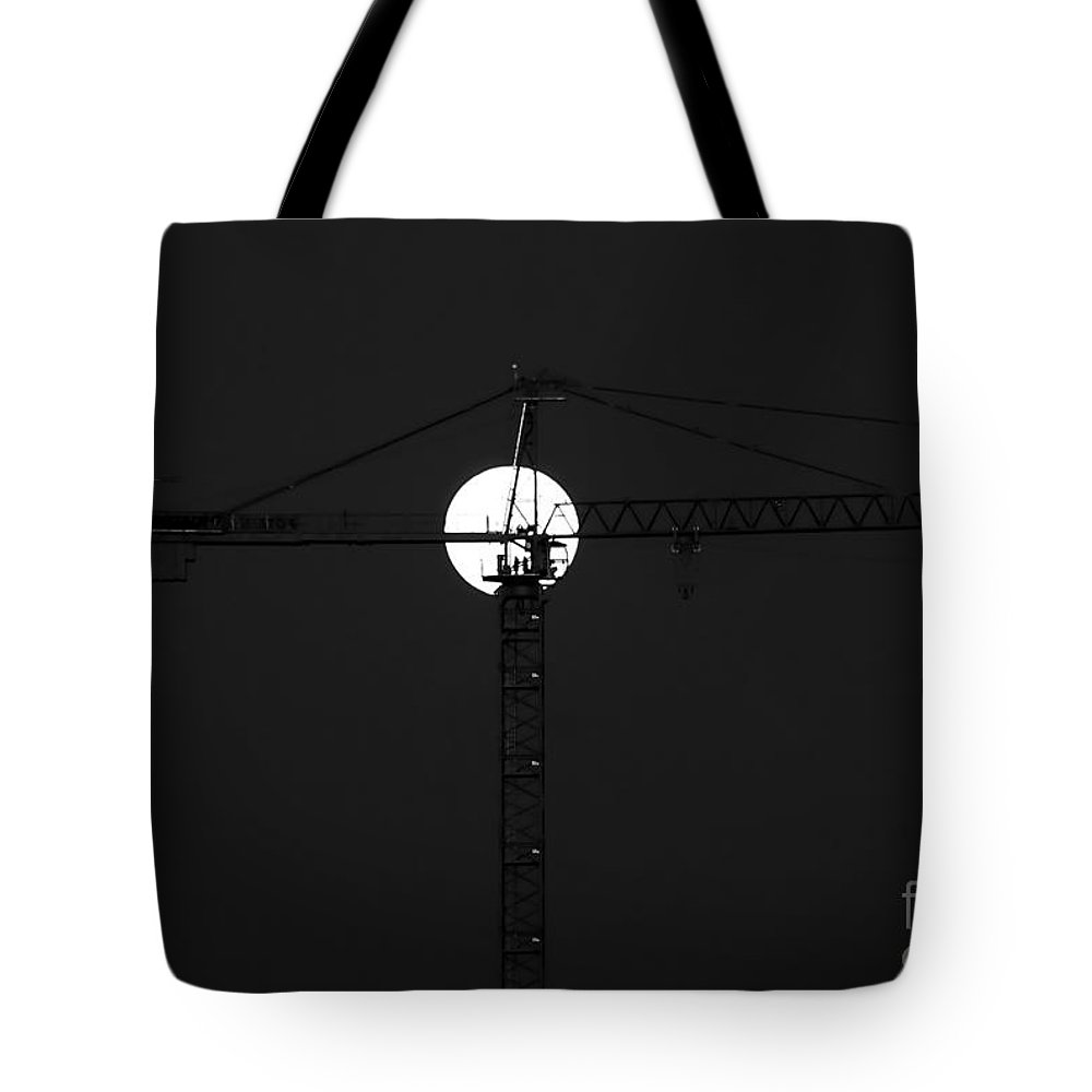 Moon Tote Bag featuring the photograph Men In The Moon by David Lee Thompson