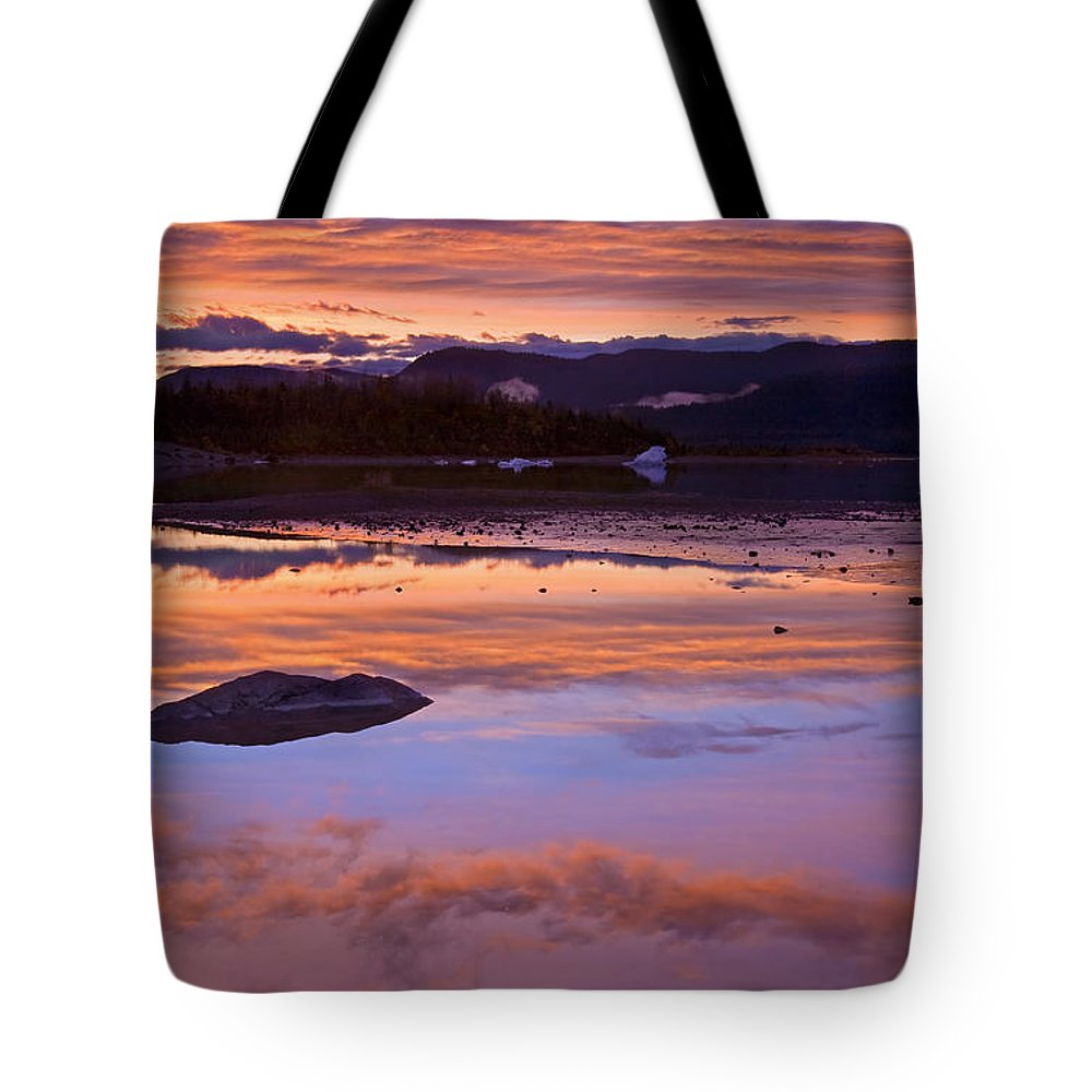 Sunset Tote Bag featuring the photograph Mendenhall Sunset by Mike Dawson