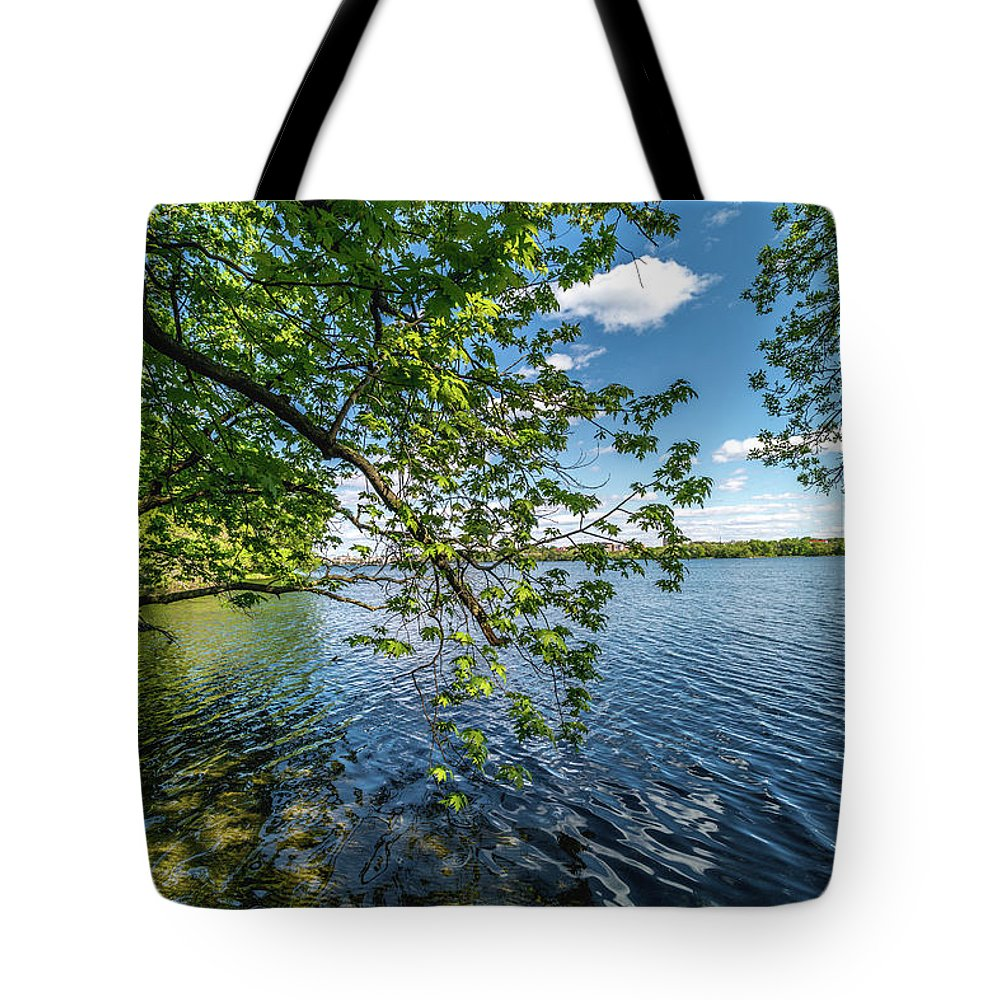 Lake Tote Bag featuring the photograph Mendota Lake by Rockland Filmworks