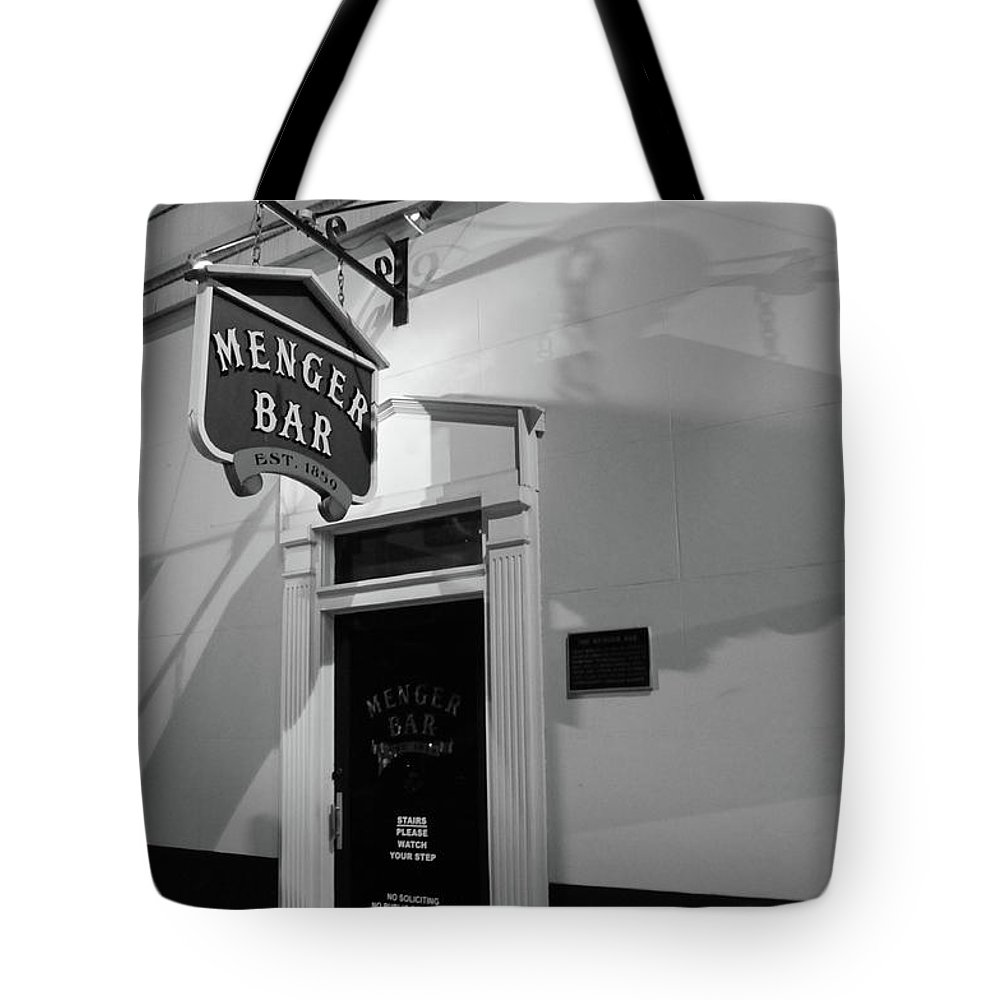 Bar Tote Bag featuring the photograph Menger Bar by Robert A Jones