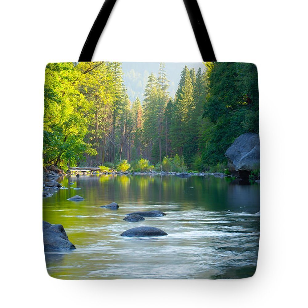 California Tote Bag featuring the photograph Merced River by Idaho Scenic Images Linda Lantzy