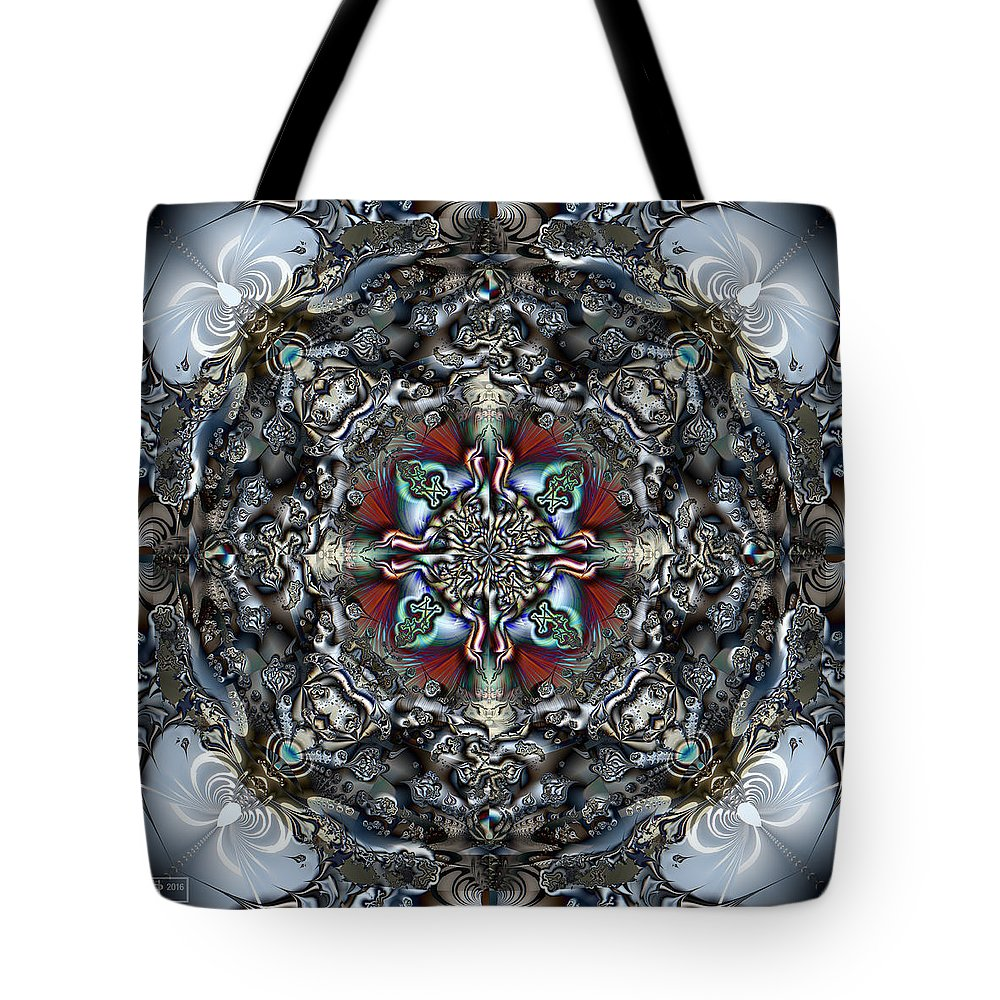 Abstract Tote Bag featuring the digital art Mere Mortal by Jim Pavelle