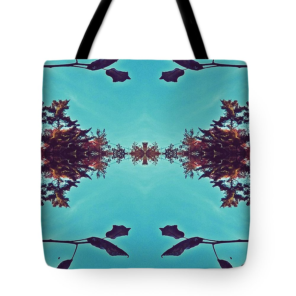 Merging- Turquoise Tote Bag featuring the digital art Merging - Turquoise by Brenda Plyer