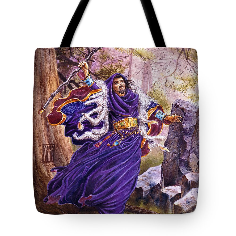 Artwork Tote Bag featuring the painting Merlin by Melissa A Benson