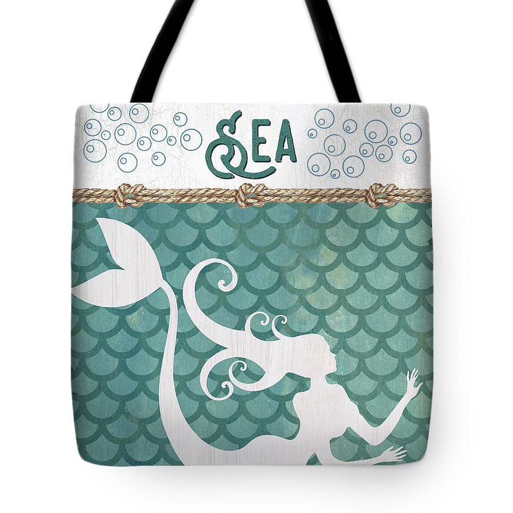 Mermaid Tail Tote Bags