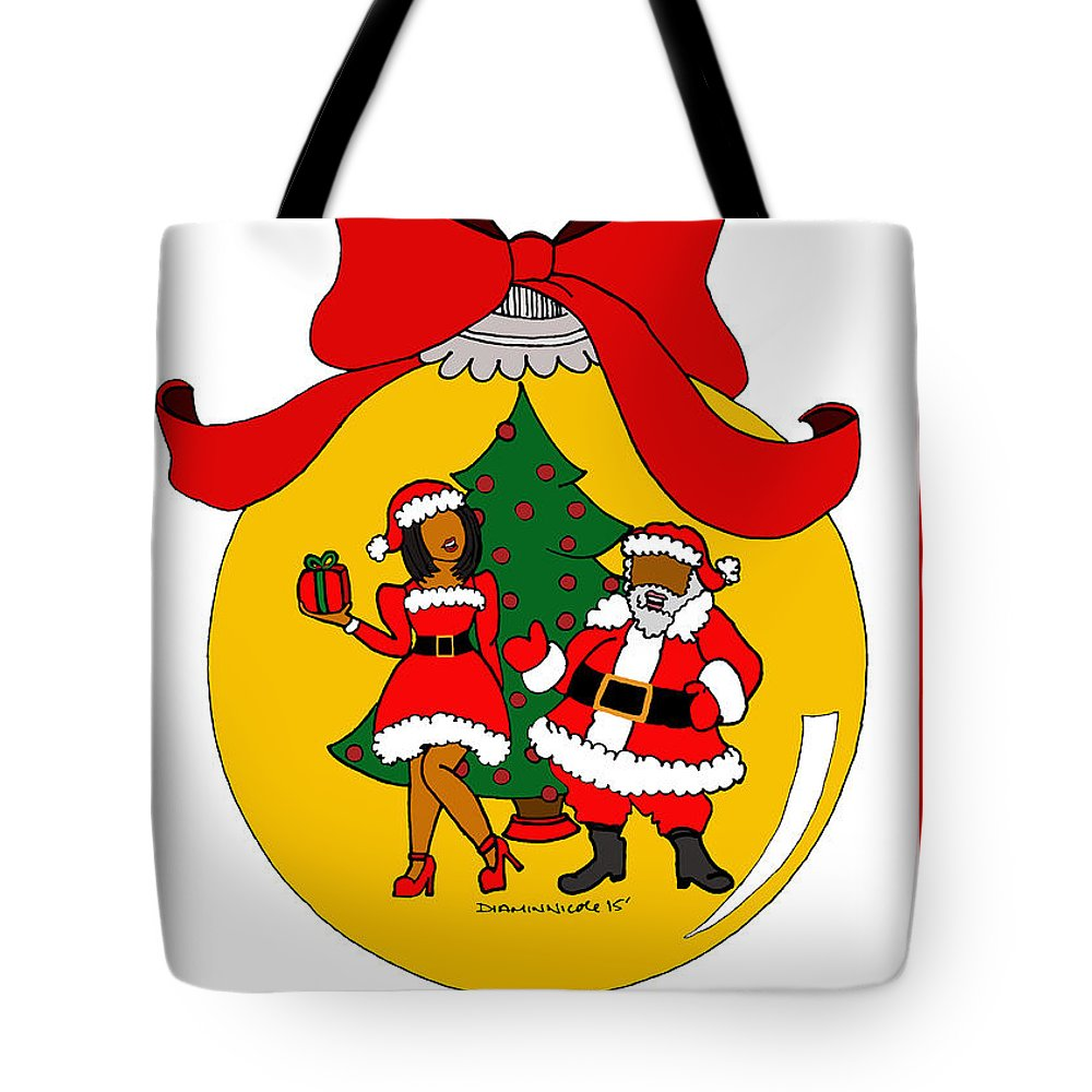 Christmas Tote Bag featuring the photograph Merry Christmas by Diamin Nicole