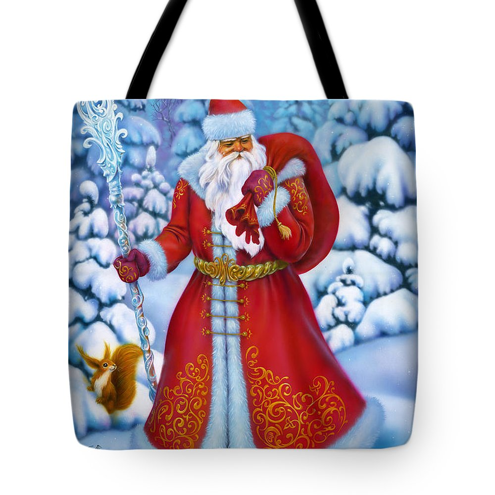 Beautiful Tote Bag featuring the painting Merry Christmas by Eldar Zakirov