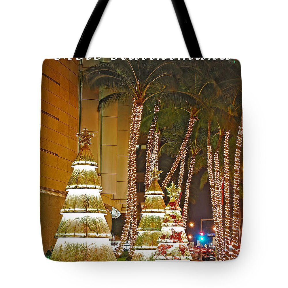 Merry Christmas Tote Bag featuring the photograph Merry Christmas by Michael Peychich