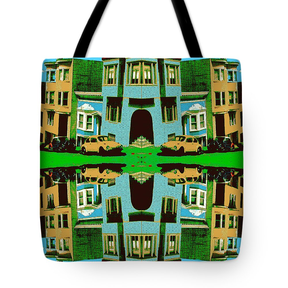 Christmas Tote Bag featuring the digital art Merry Christmas Tales by Peter Potter