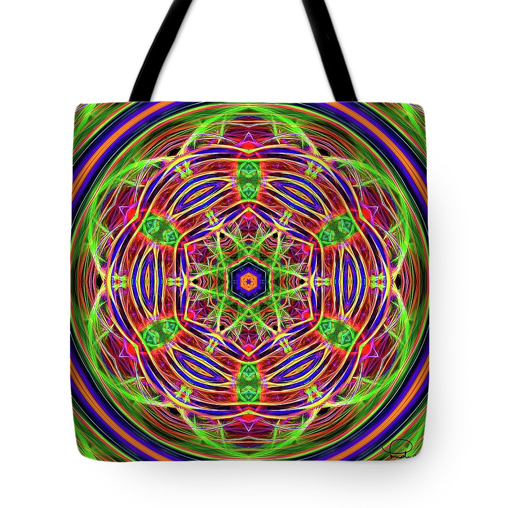 Cafe Art Tote Bag featuring the digital art Merry-go-round by Ludwig Keck