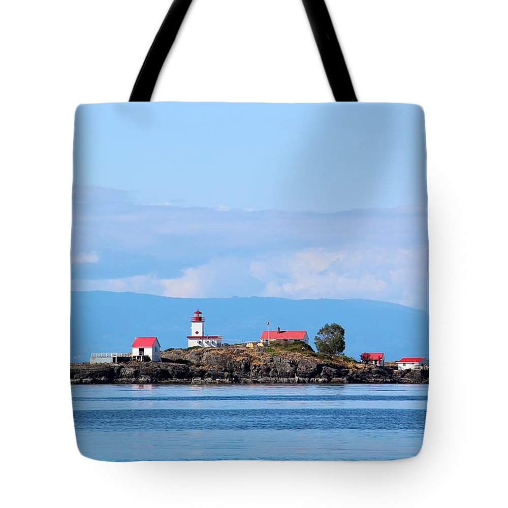 Merry Island Tote Bag featuring the photograph Merry Island by Anders Skogman