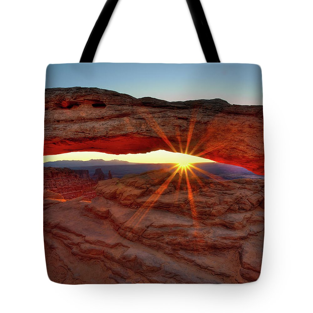 Tote Bag featuring the photograph Mesa Arch 1 by Paul Basile