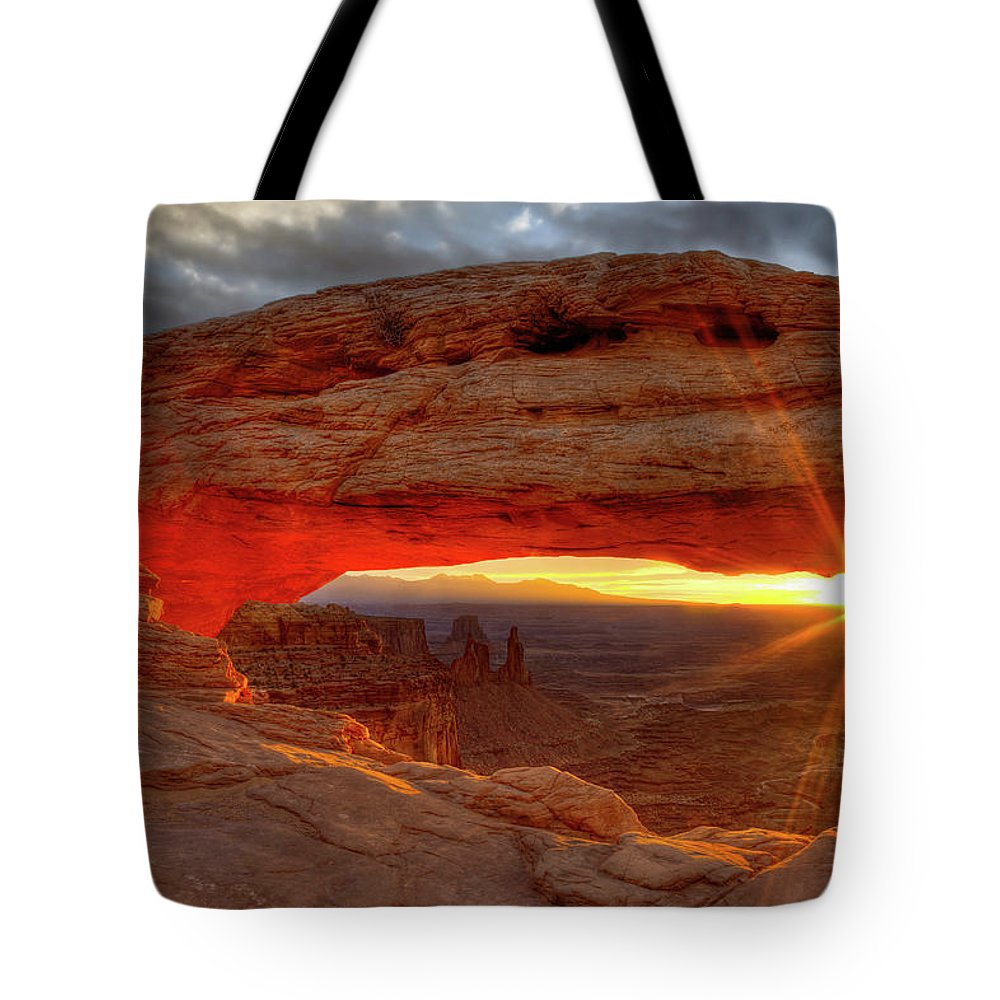 Tote Bag featuring the photograph Mesa Arch 6 by Paul Basile