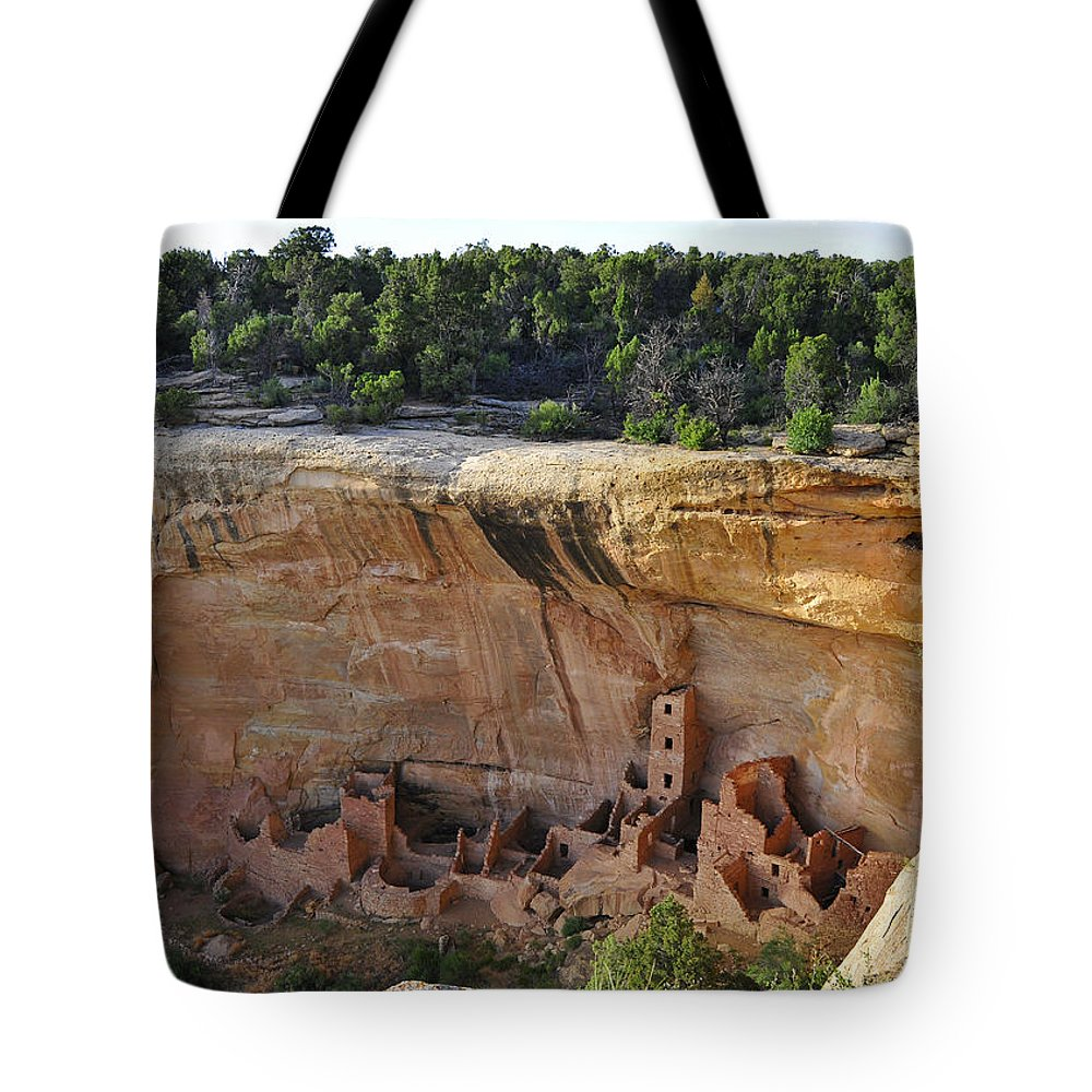 Mesa Dwelling Tote Bag featuring the photograph Mesa Dwelling by Skip Hunt