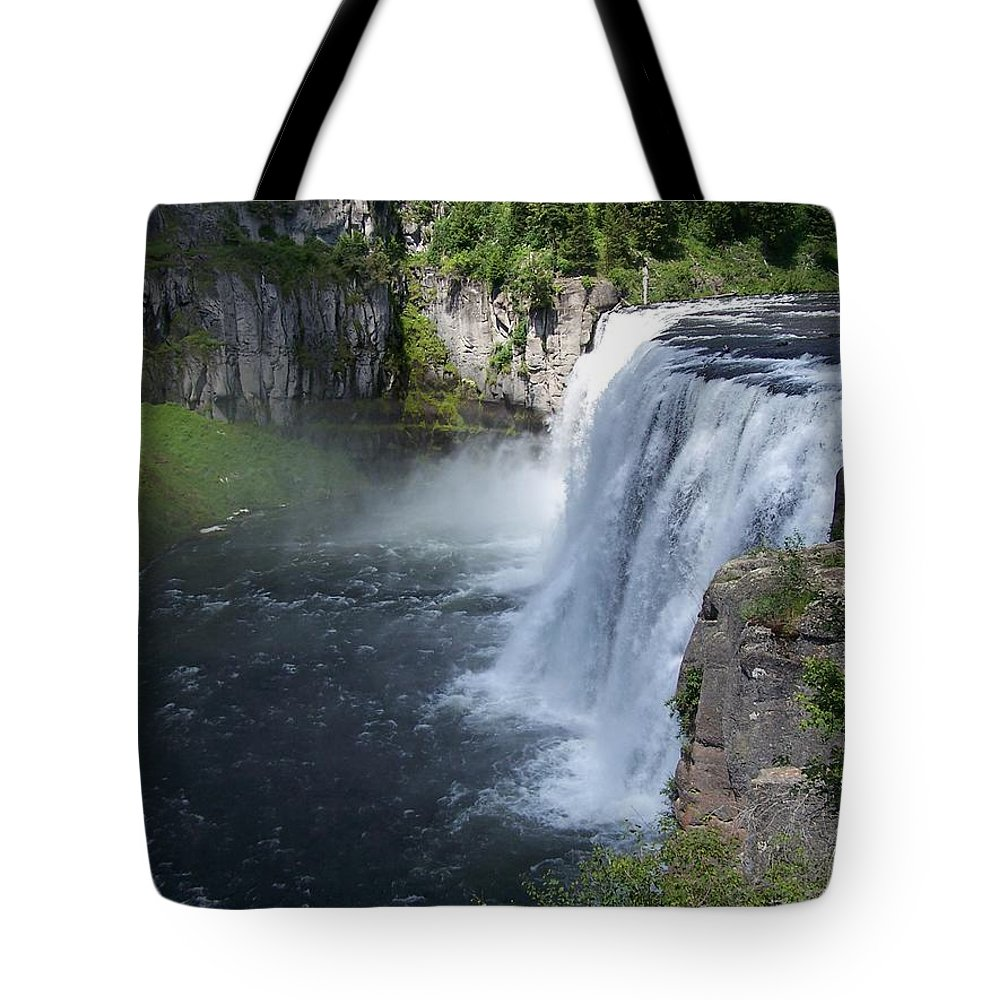 Landscape Tote Bag featuring the photograph Mesa Falls by Gale Cochran-Smith