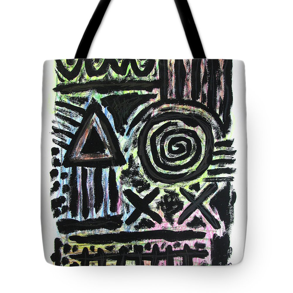Rocco Satoshi Tote Bag featuring the painting Mesomorph by Rocco Satoshi