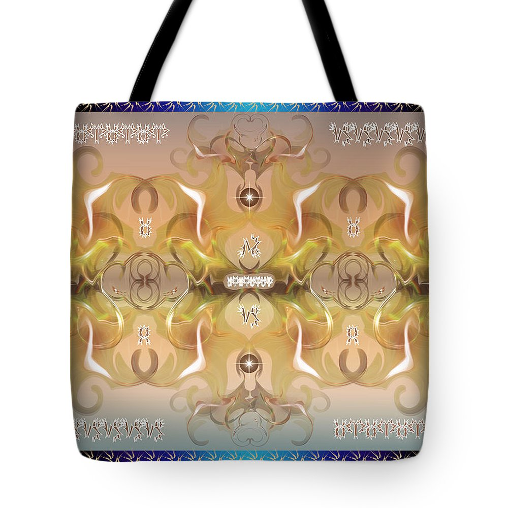 Fantasy Tote Bag featuring the digital art Message From Space by George Pasini