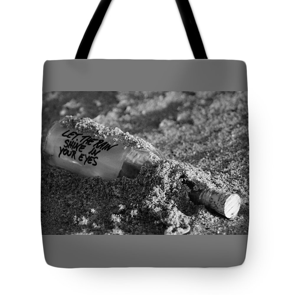 Beach Tote Bag featuring the photograph Message In A Bottle by Todd Dunham