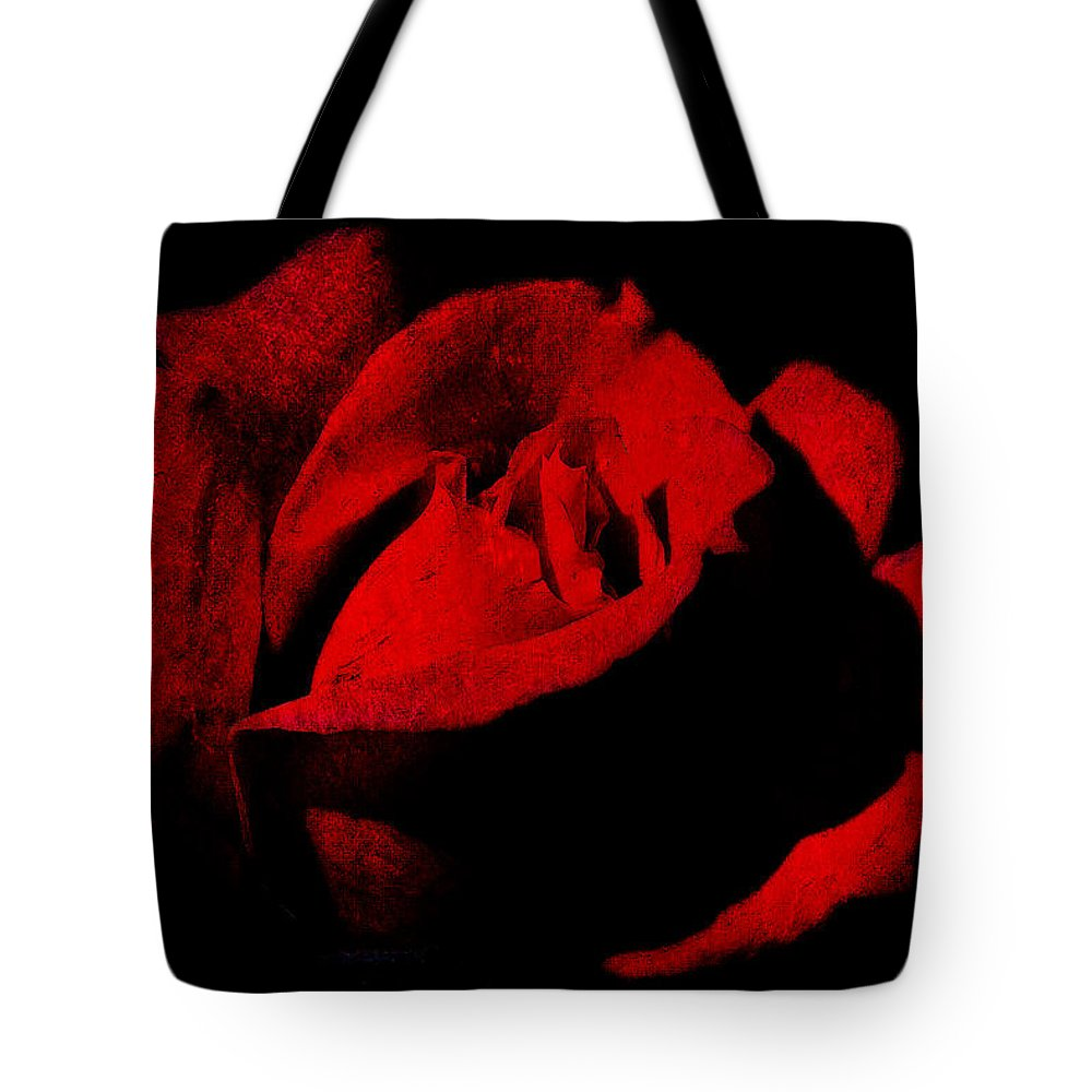 Seduction Tote Bag featuring the digital art Seduction In Red by Max Steinwald