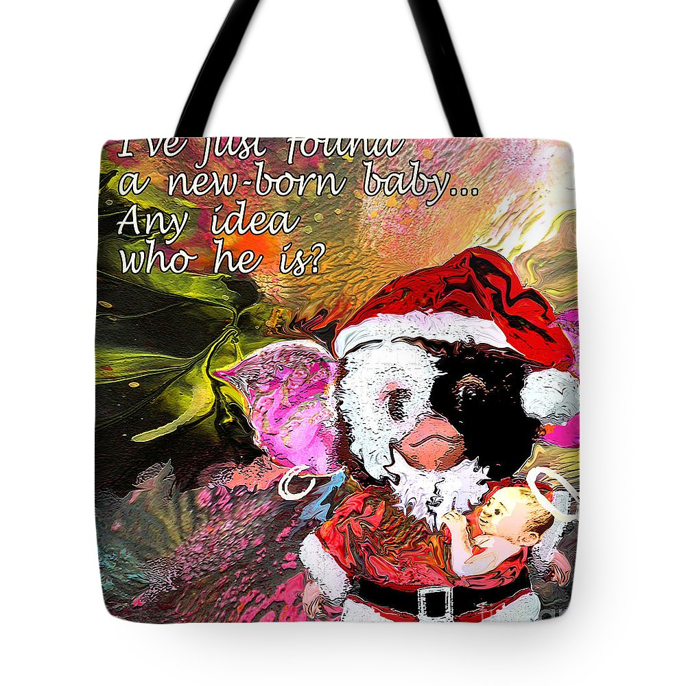 Fantasy Painting Tote Bag featuring the painting Messiah Found by Miki De Goodaboom