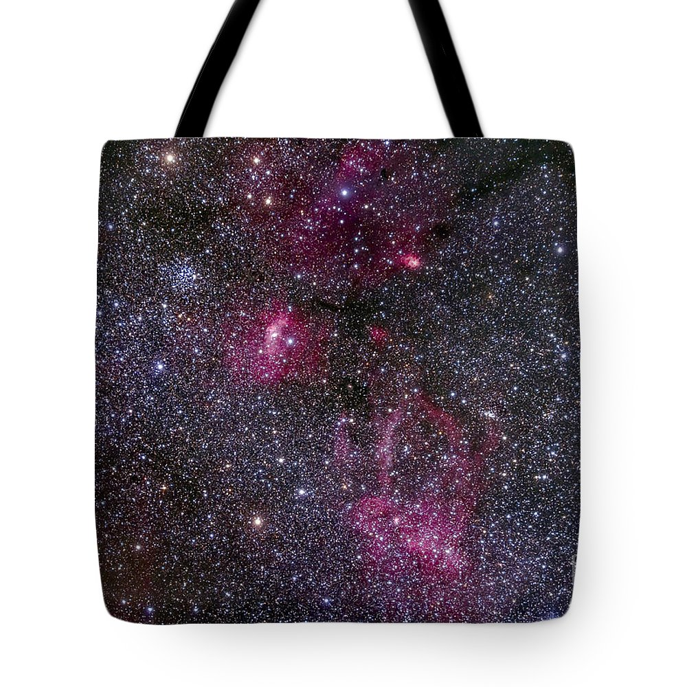 Bubble Nebula Tote Bag featuring the photograph Messier 52 And The Bubble Nebula by Alan Dyer