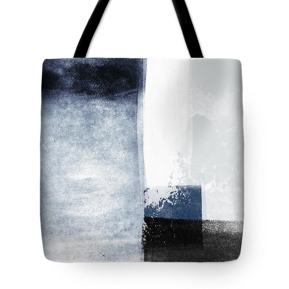 Blue Tote Bag featuring the mixed media Mestro 3- Abstract Art by Linda Woods by Linda Woods