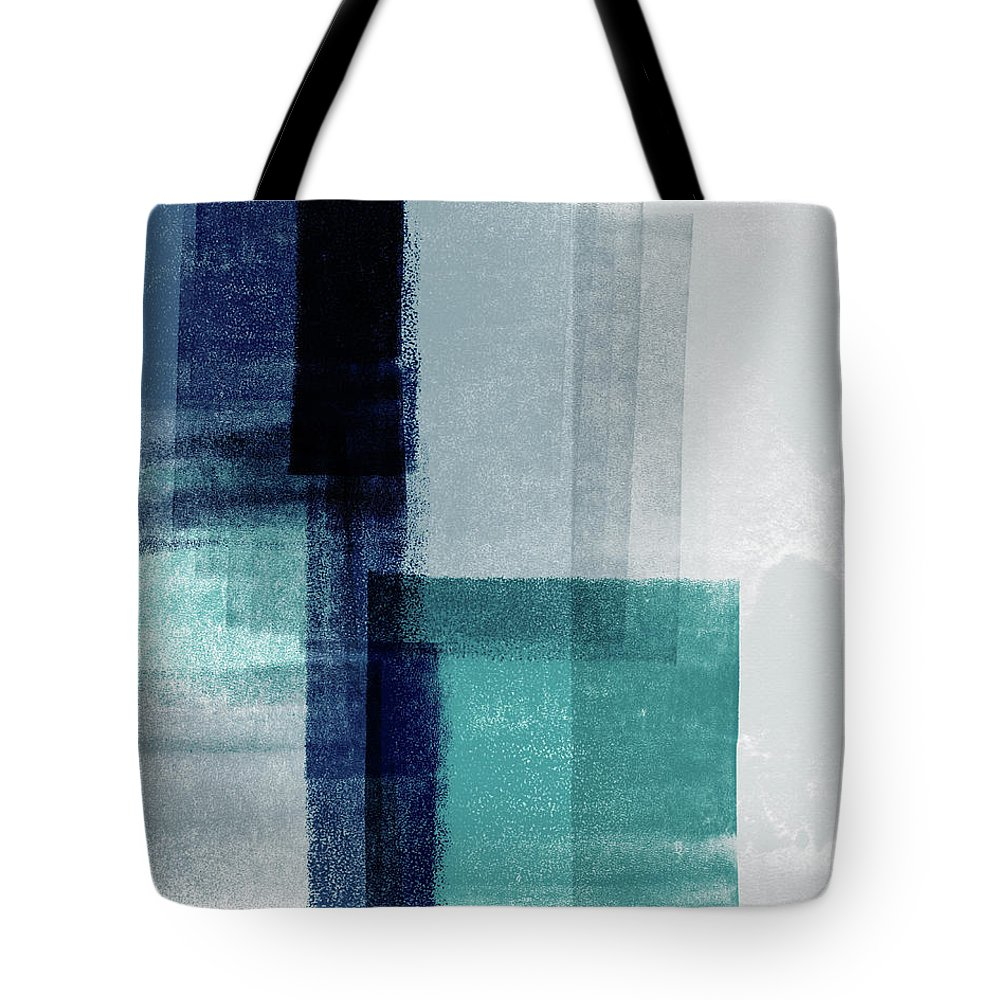 Abstract Tote Bag featuring the mixed media Mestro 5- Art By Linda Woods by Linda Woods