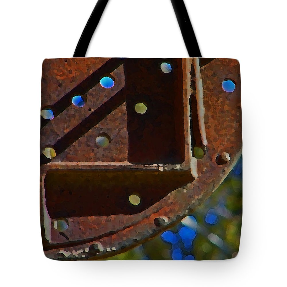 Abstract Tote Bag featuring the digital art Metal Mobile by Lenore Senior