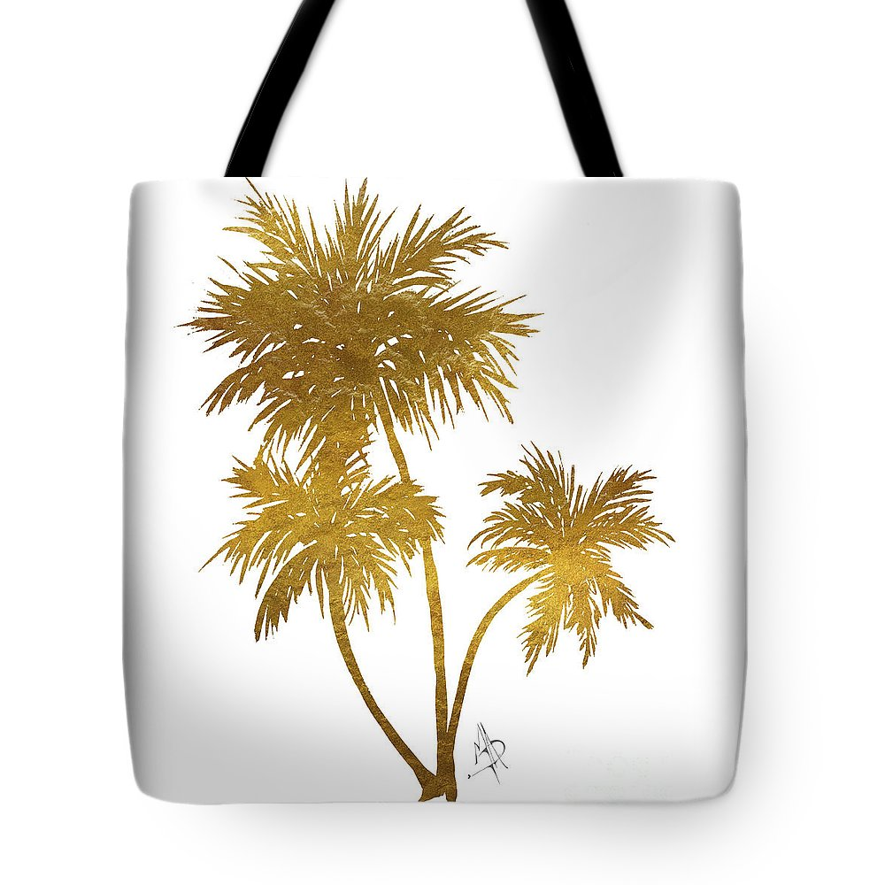 Metallic Gold Palm Trees Tropical Trendy Art Tote Bag for Sale by ...