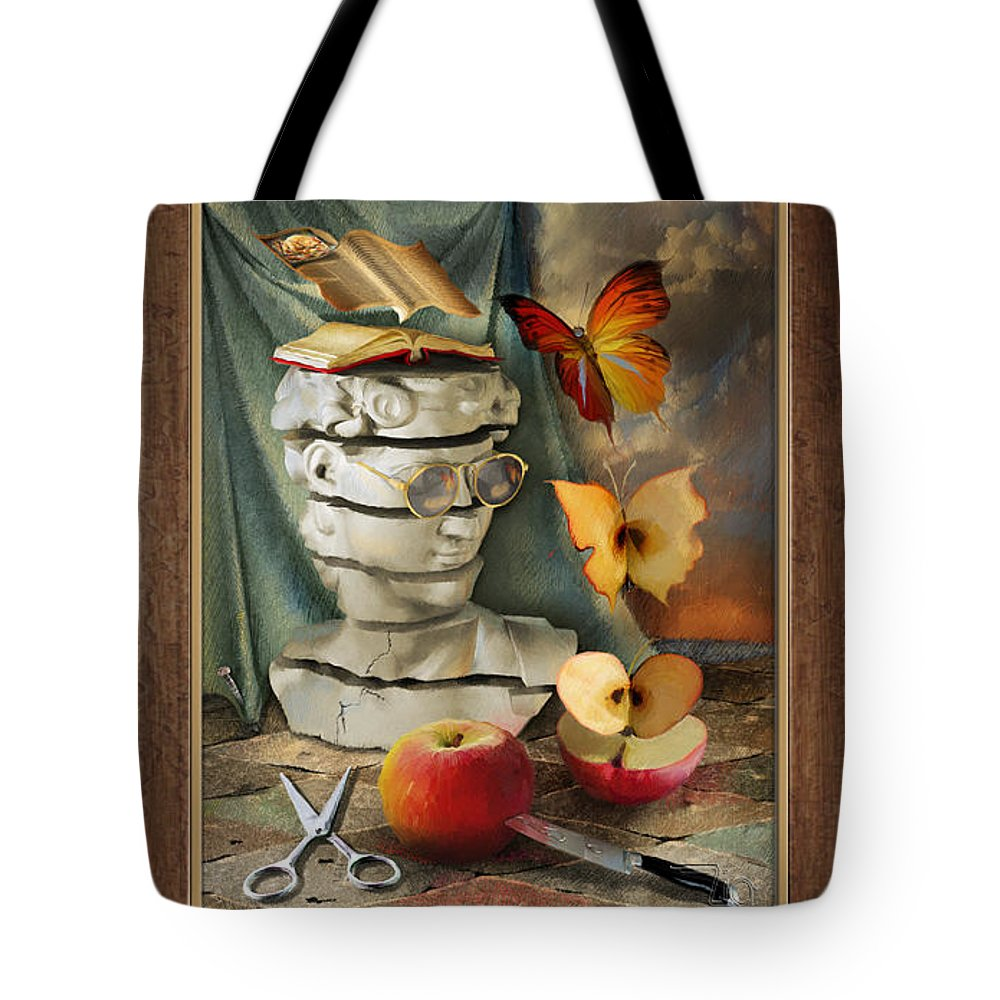 Tote Bag featuring the mixed media Metamorphosis by Art Z