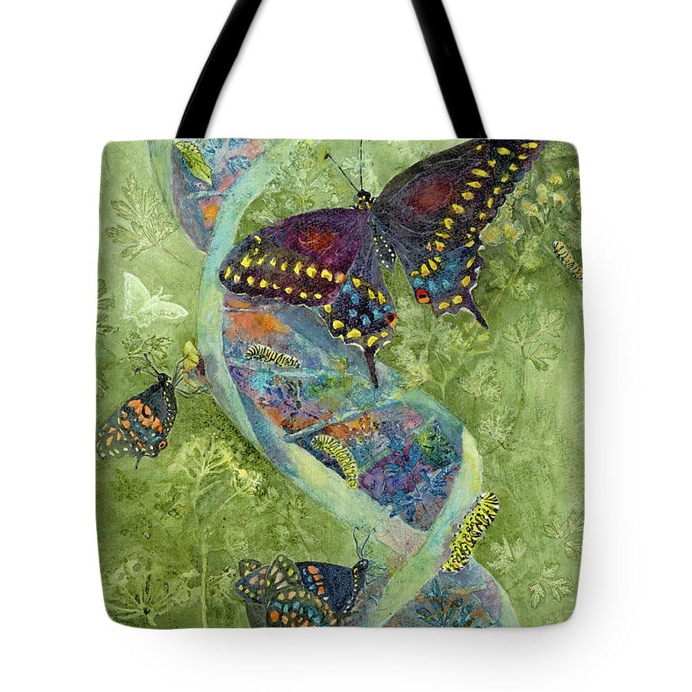 Nancy Charbeneau Tote Bag featuring the painting Metamorphosis by Nancy Charbeneau