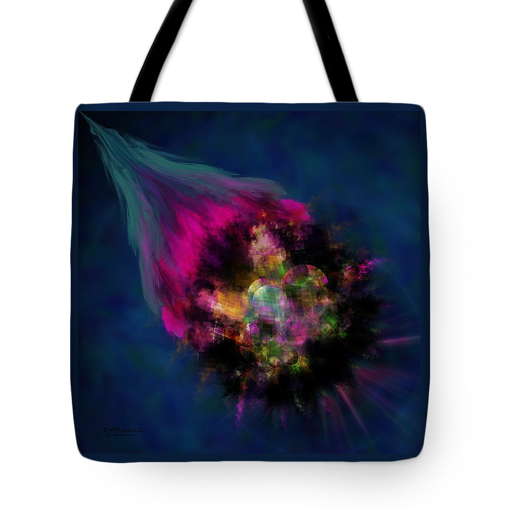 Meteor Tote Bag featuring the digital art Meteor by Diane Parnell