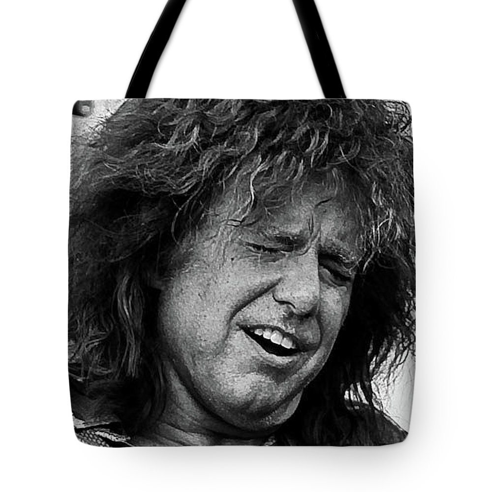Pat Metheny; Newport Jazz Festival; Jazz Tote Bag featuring the photograph Metheny by Ed Gleason