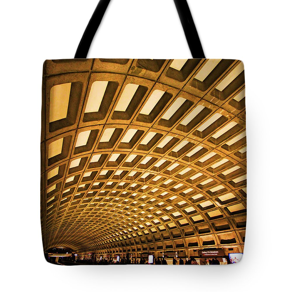 Metro Tote Bag featuring the photograph Metro Station by Mitch Cat