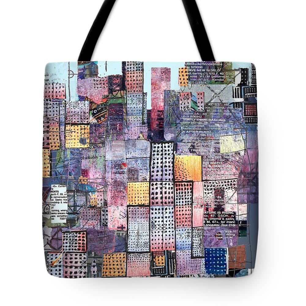 Metro Tote Bag featuring the digital art Metropolis 3 by Andy Mercer