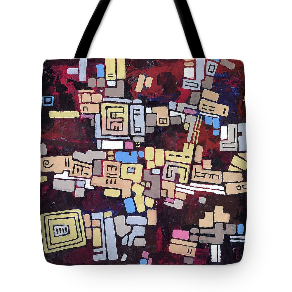 Abstract Tote Bag featuring the painting Mexica by Douglas Simonson