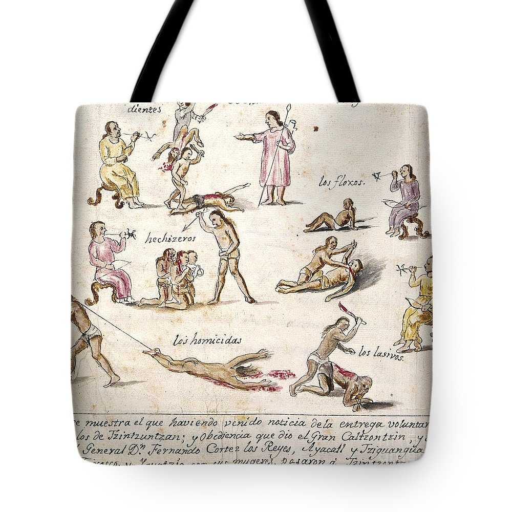 1750 Tote Bag featuring the photograph Mexico: Indian Punishments by Granger