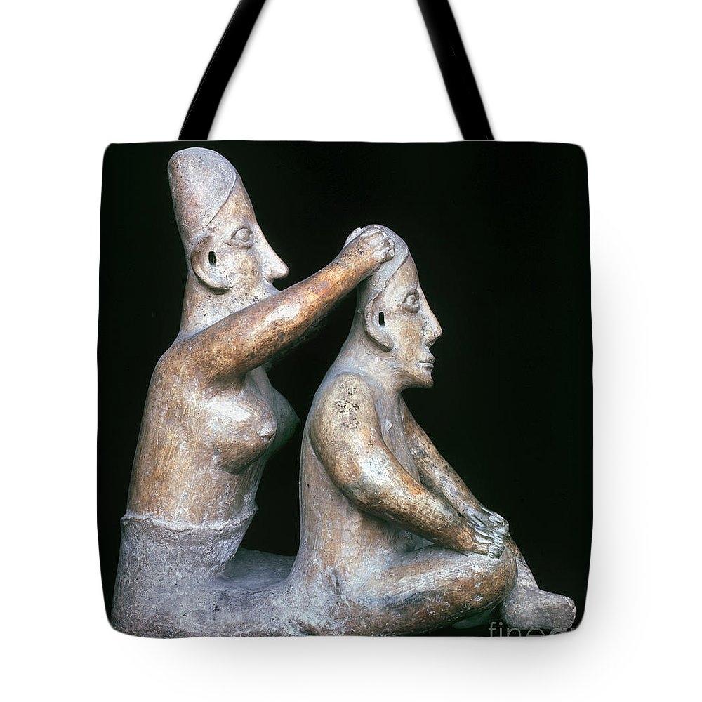 200 B.c. Tote Bag featuring the photograph Mexico: Totonac Figures by Granger