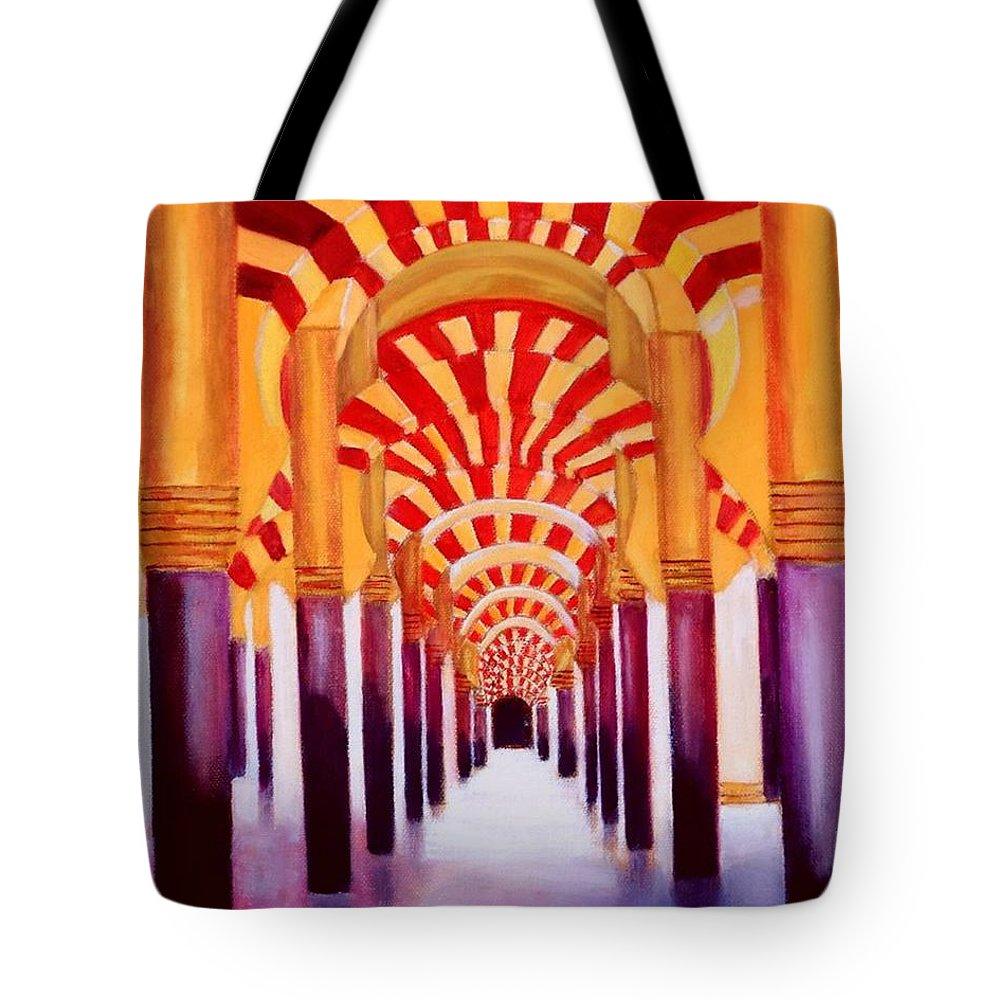 Monument Tote Bag featuring the painting Mezquita De Cordoba by Manuel Sanchez