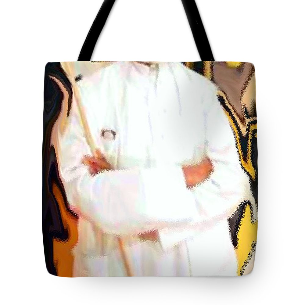 Mf Hussain Tote Bag featuring the digital art Mf Hussain-indian Art Master by Piety Dsilva