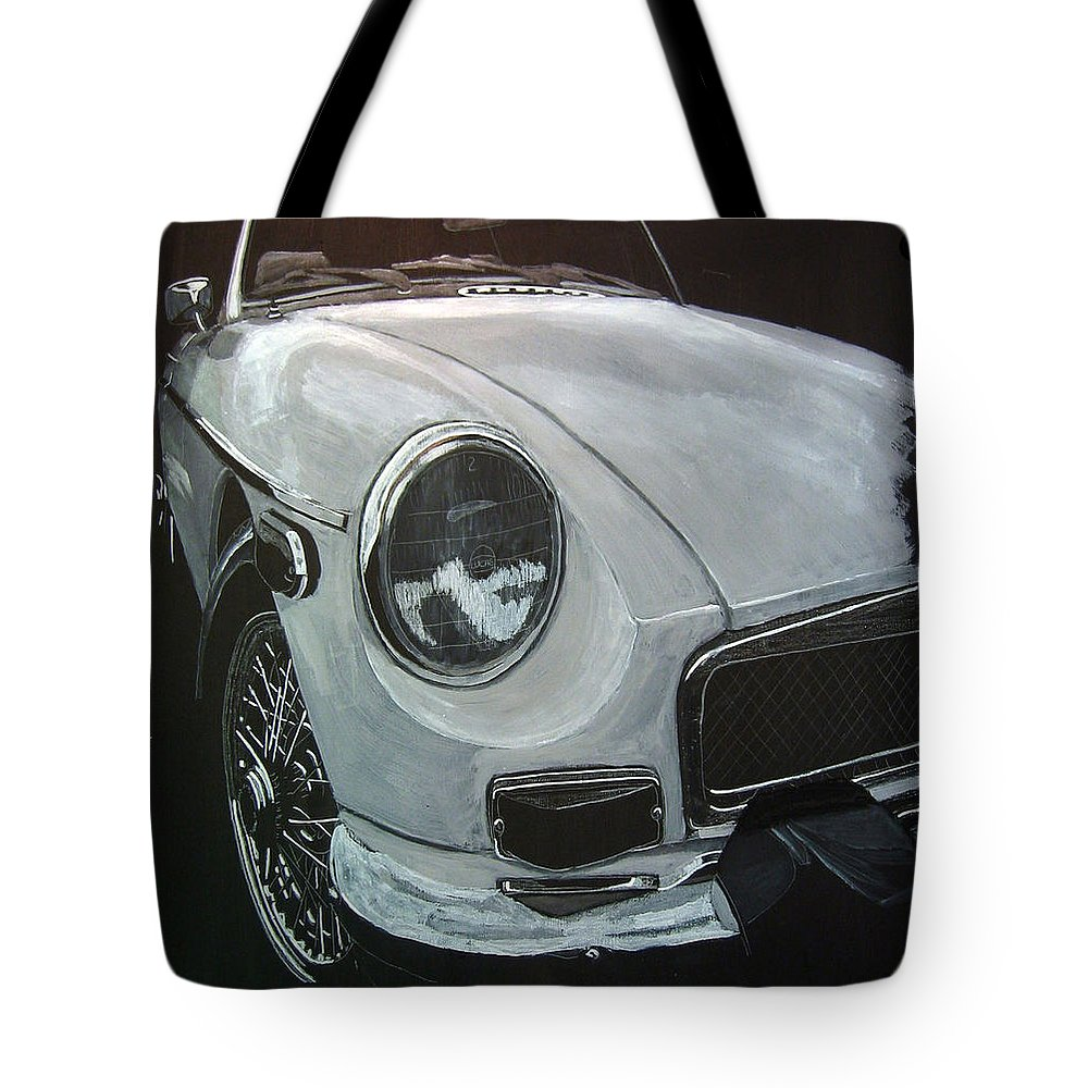 Mgb Tote Bag featuring the painting MGB by Richard Le Page