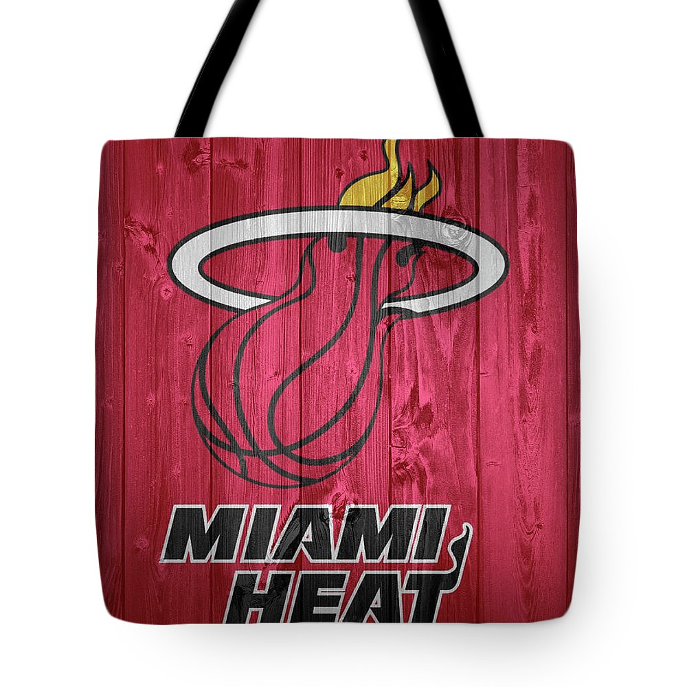Miami Heat Barn Door Tote Bag featuring the photograph Miami Heat Barn Door by Dan Sproul