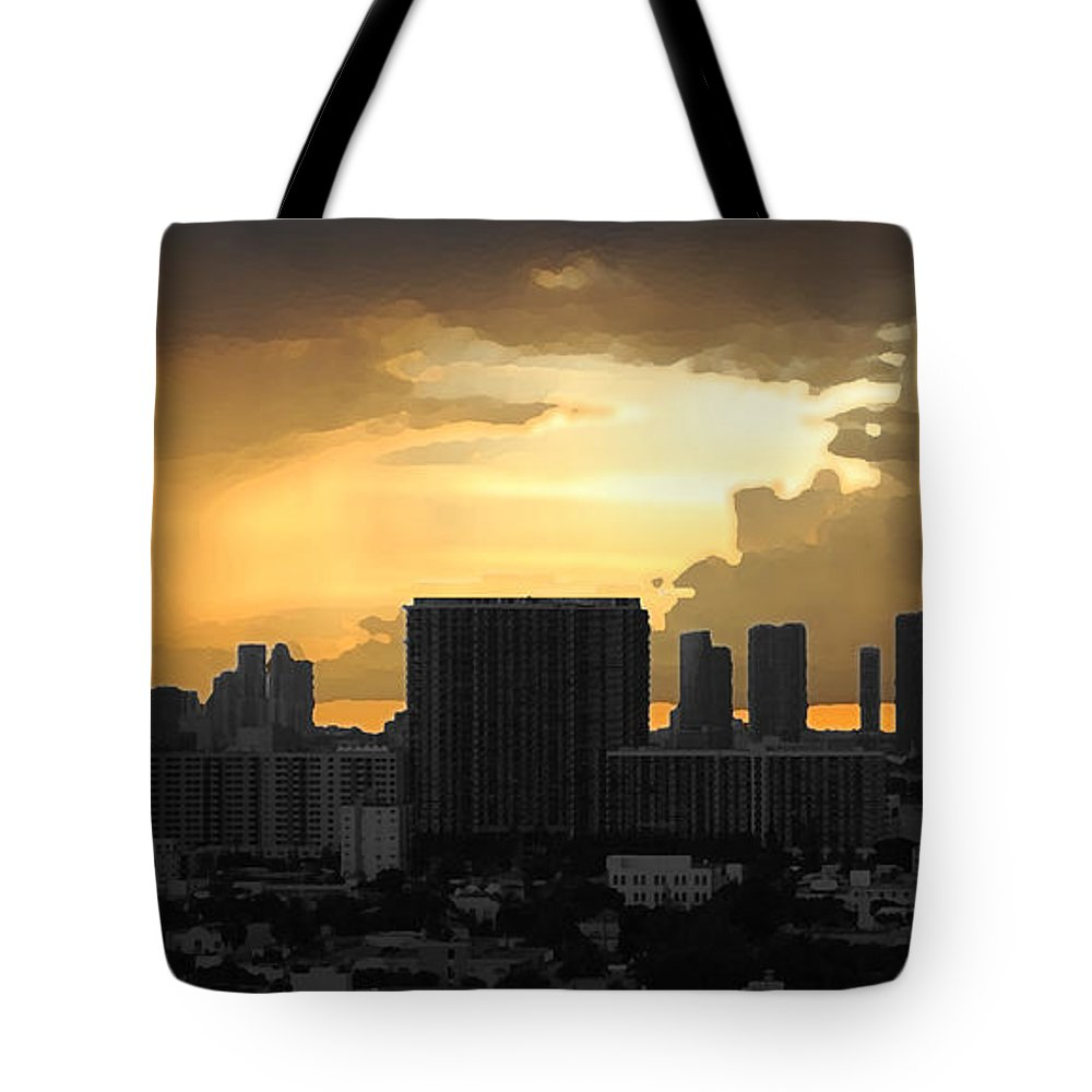 Landscape Tote Bag featuring the photograph Miami by Joseph Mari
