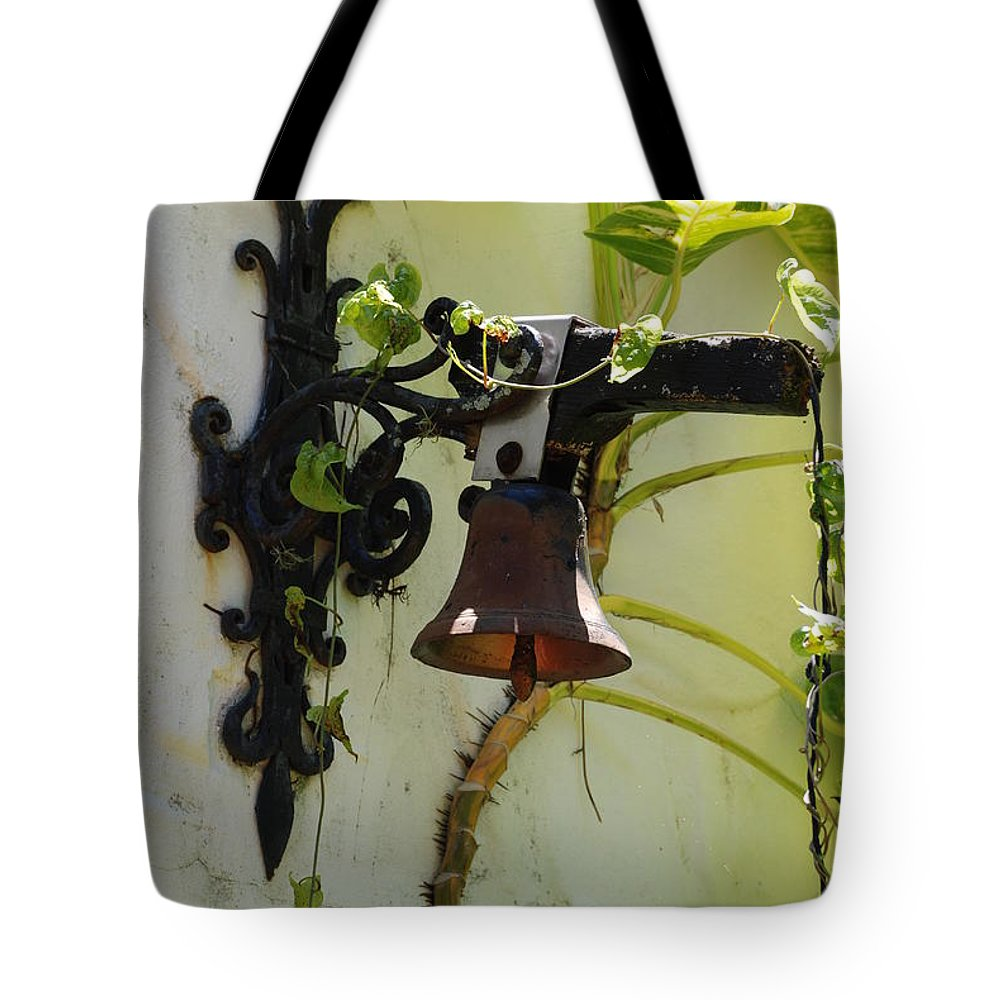 Architecture Tote Bag featuring the photograph Miami Monastery Bell by Rob Hans