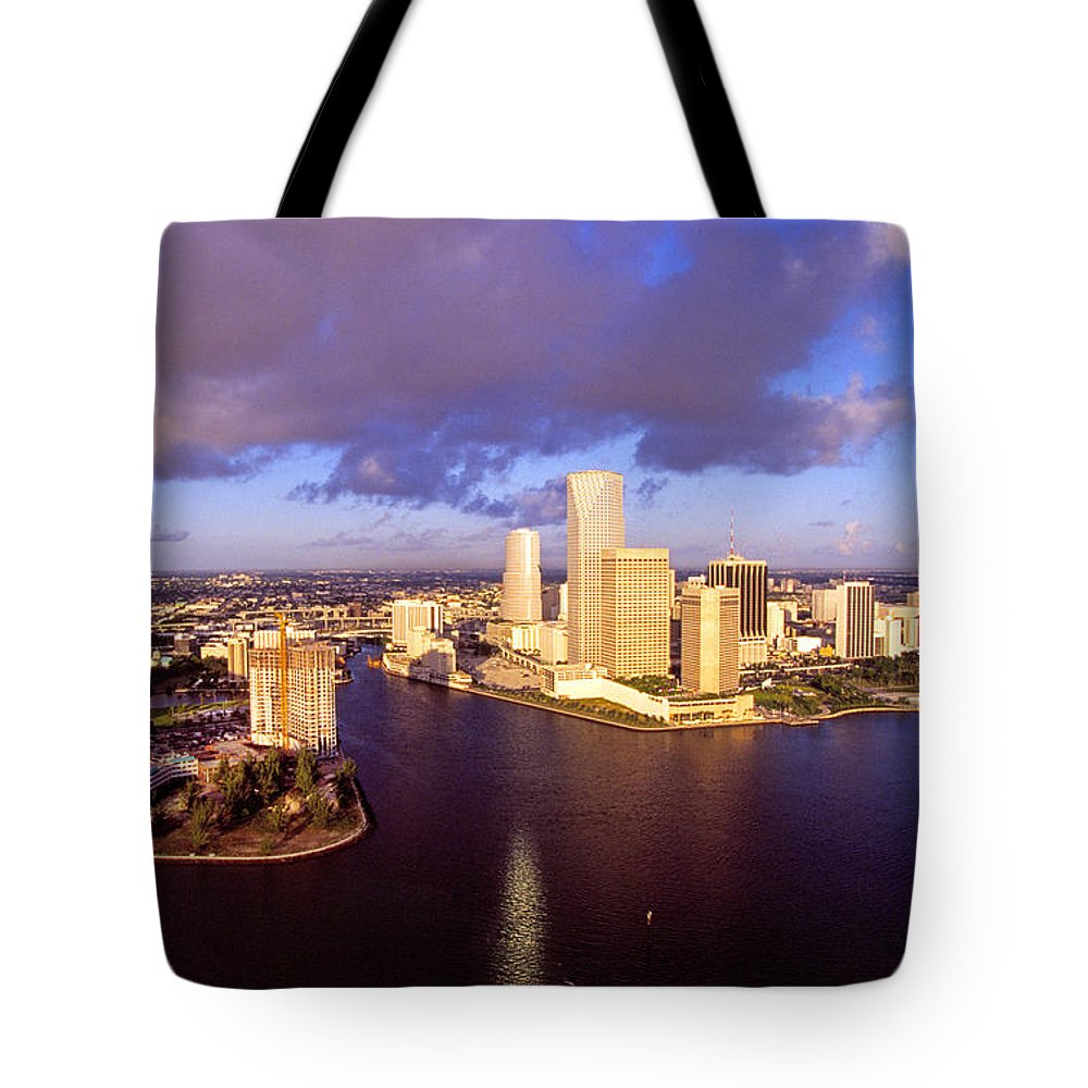 Miami Tote Bag featuring the photograph Miami Skyline 3 by Buddy Mays
